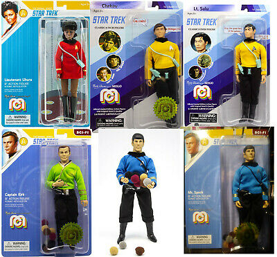 MEGO STAR TREK full crew set Trouble With Tribbles 8 inch ACTION FIGURES