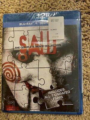 Saw: The Complete Movie Collection (Blu-ray Disc, 2014, 3-Disc) New, NIB, Sealed