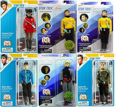 MEGO STAR TREK full crew set WITH A ROMULAN 8 inch ACTION FIGURES