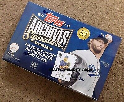 2019 Topps Archives Signature Series Active Player Edition Hobby Box LIVE!
