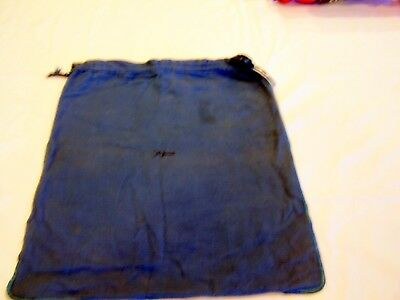 John Wanamaker blue flannel dust bag department store vintage advertising
