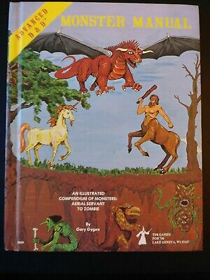 Monster Manual Advanced Dungeons and Dragons TSR 1st Edition 1979 Hardcover AD&D