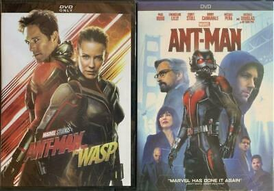 Ant-man 1 and 2 DVD Ant-man and the Wasp Bundle Marvel Movie New / Free Shipping