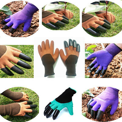 Hot Digging&Planting with 4 ABS Plastic Claws Gardening Garden Genie Gloves