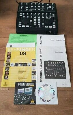 BEHRINGER BCD3000 B-CONTROL DEEJAY Music Mixing Studio SOFTWARE Instructions
