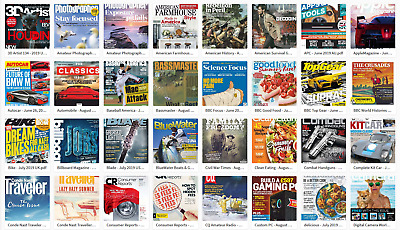 Assorted 110 Magazines pack №13 June - October 2019 in PDF (read description!)