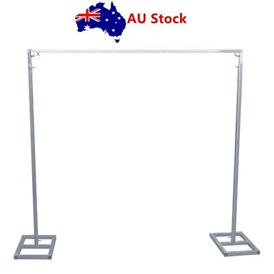 Adjustable Wedding Backdrop Stand Portable Pipe and Drape Backdrop Kit 3M*3M AU