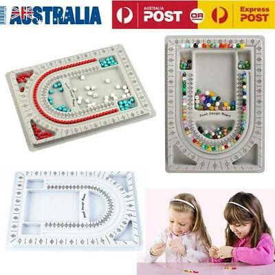 Bead Board Tray Jewellery Making Craft Tool String Beading Design Organiser AU