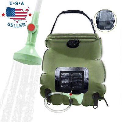 20L Portable Shower Heating Pipe Bag Solar Water Heater Outdoor Camping Camp USA