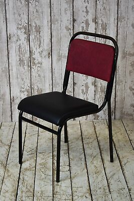 Vintage Industrial Stacking Cafe Bar Restaurant School Chair (30 Available)