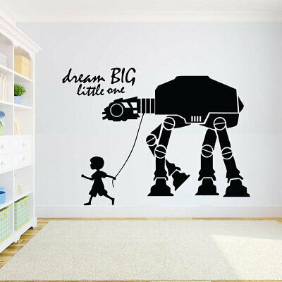 Star Wars Dream Big home Decor Wall Paper viny art removable Sticker