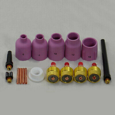 17x Tig Welding Torch Gas Lens Collet Nozzle Glass Cup Kit For WP-9/20/25 Serie