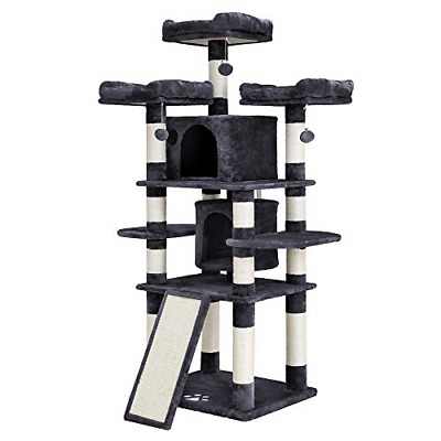 FEANDREA 67 inches Multi-Level Cat Tree for Large Cats, with Cozy Perches,