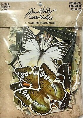 Tim Holtz Idea-Ology Layers Botanical 83 Pieces Code Th93554
