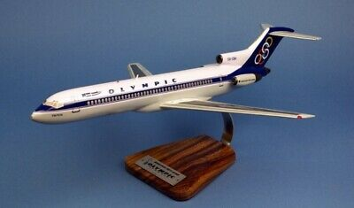 PILOT'S STATION Maquette Avion Olympic Airways Boeing 727-230 47x33cm Avec Socle