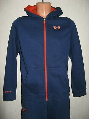 Worn Once Boys Blue Under Armour Storm Hooded Tracksuit Age 13-15 Small X/L Boys