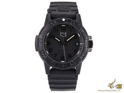 Reloj de Cuarzo Luminox Leatherback Sea Turtle, Negro, Carbono, 39mm, Día