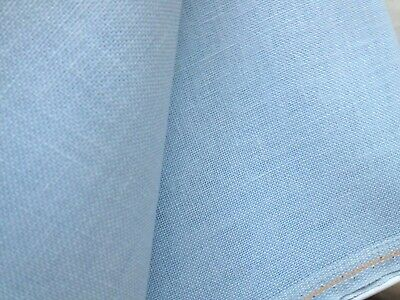 Pale Baby Blue 32 Count Zweigart Belfast linen even weave fabric size options