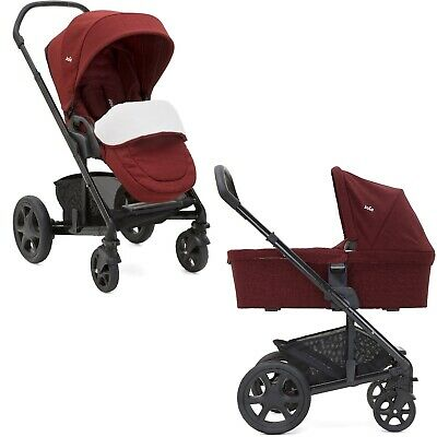 Joie Chrome DLX Set inkl. Wanne Cranberry Kombikinderwagen Kinderwagen Set 2in1