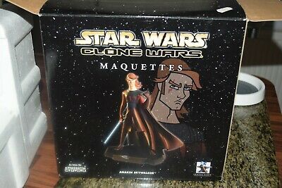 Star Wars Gentle Giant Clone Wars Anakin Skywalker Limited Ed Maquette Statue