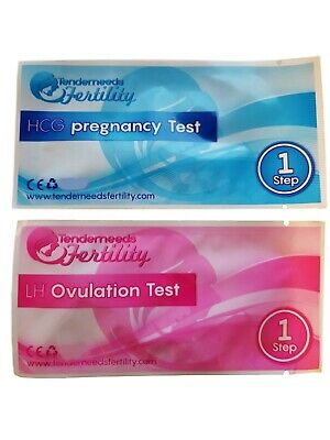 (100) Tenderneeds Fertility HCG Pregnancy & LH Ovulation Tests Response First