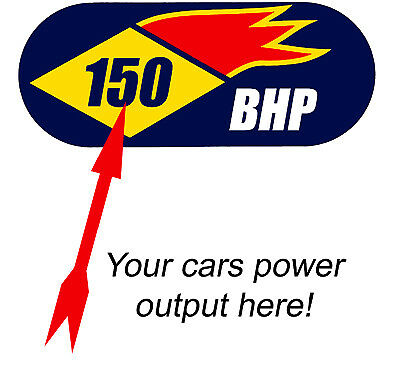 Custom BHP Sticker - Dyno Rolling Road Hot Rod Classic Car Mini Funny Engine Efi