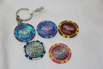 High Roller Casino Las Vegas chips & Key chain $25000 & $10,000 & $5000 & $500