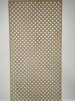 Radiator Cabinet Decorative Screening Perforated 3mm & 6mm thick MDF lasercutKZ2
