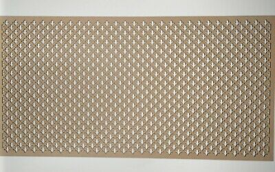 Radiator Cabinet Decorative Screening Perforated 3mm & 6mm thick MDF lasercutFDL
