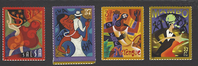Scott# 3939-42 37c LET'S DANCE  4 singles ~ mnh  S/A 2005