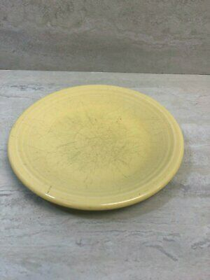 "Fiesta Homer Laughlin Sunflower Yellow 7.25"" Salad Plate, Small Sand Bump, USED"