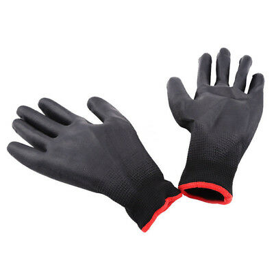 1 Pairs PU Nylon Safety Coating Work Gloves Builders Protector Non-Slip Mittens