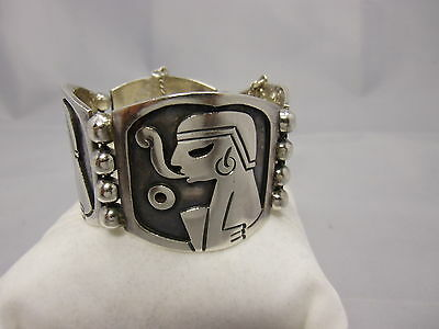 massives Mexico Armband Sterling Silber 925 punziert