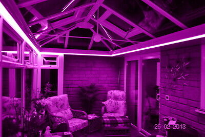 Pink Remote Control LED Strip Light Set Conservatory Sun-Lounge Orangery