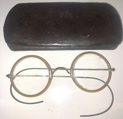 Antique John Lennon G.F. Wire Frame Eye Round Glasses GF SHUR ON