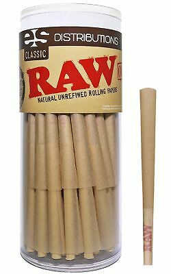 RAW Cones Classic Lean Size | 50 Pack | Natural Pre Rolled Rolling Paper with...