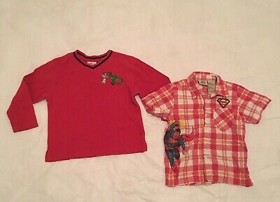 Boys toddler size  5-6 Toy Story & Superman sweater & polo shirt lot