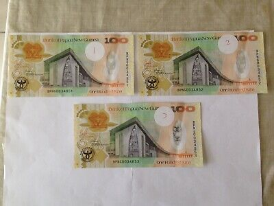 PGK100 Denomination Paper Bank Notes. Ideal For Collection.