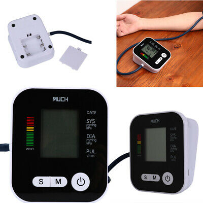 Automatic Digital LCD Upper Arm Blood Pressure Pulse Monitor Heart Rate w/ Voice