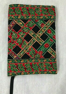 Vera Bradley Indiana Book Cover Noel Coordinate Holiday Christmas Excellent