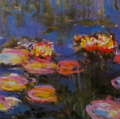 "Claude MONET ""WATER LILLIES Detail II 1916"" Offset Lithograph"