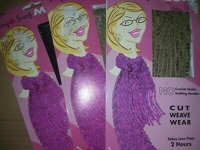 Wright's Simple Scarf Mesh Weaving Kit lot of 3 #500T135