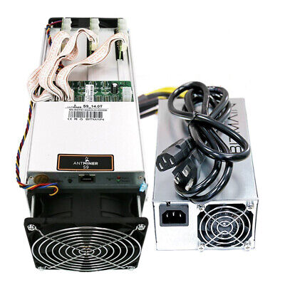 Antminer S9~14.0TH/s @ 0.098W/GH 16nm ASIC Bitcoin Miner with PSU