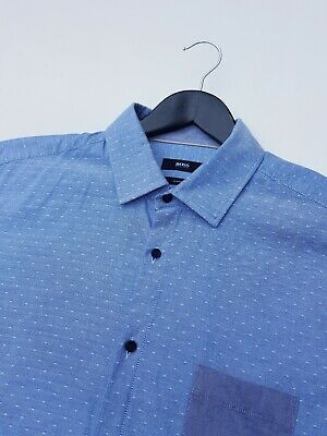 Hugo Boss Slim Fit Spotted Shirt Size Large Excellent Condition!