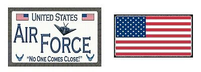 2 Pack - Air Force and American Flag - Magnetic Car Sign