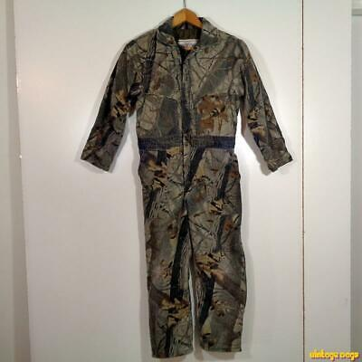 1269a29e74904 WALLS Vtg USA Realtree Hunting Camouflage Coveralls Youth 12 Husky insulated