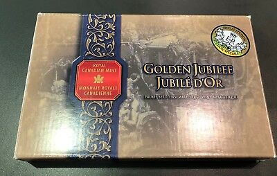 """2002 Canada Proof Set. """"Golden Jubilee"""" Special Edition Gold Plated Coin"""