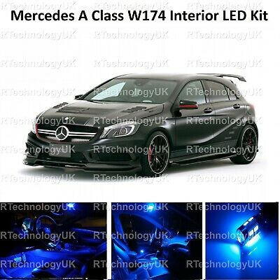 Blue Premium Mercedes A Class W174 Led Interior Upgrade Kit Set A45 A200