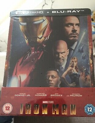 MARVEL Iron Man 4K Ultra HD / 2D Bluray Zavvi Excl Steelbook Reg Free IN HAND