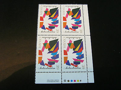 Canada #1270 Multiculturalism 39¢ Block of 4 — M-VFNH